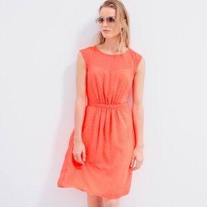 Bright orange j.crew summer dress with lining!
